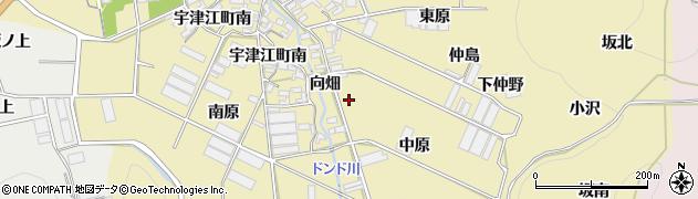 愛知県田原市宇津江町(中原)周辺の地図