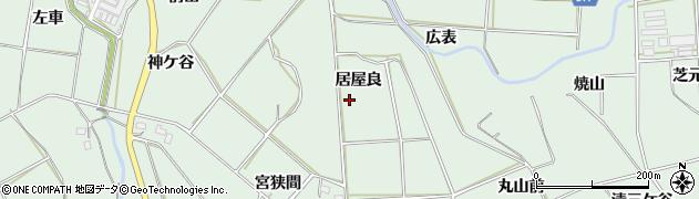 愛知県田原市六連町(居屋良)周辺の地図