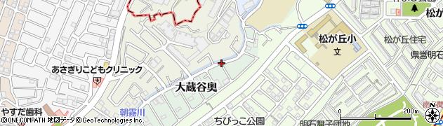 兵庫県明石市大蔵谷奥周辺の地図