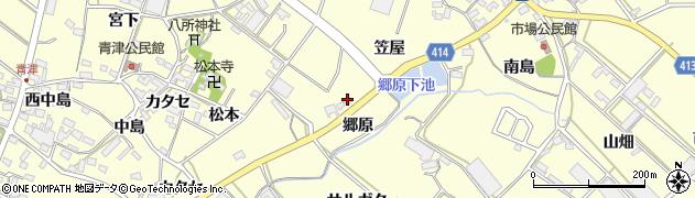 愛知県田原市神戸町(郷原)周辺の地図
