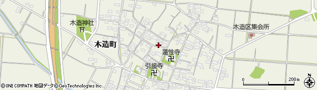 三重県津市木造町周辺の地図