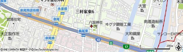 呑海寺周辺の地図