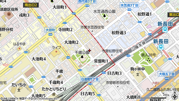 〒654-0027 兵庫県神戸市須磨区千歳町の地図