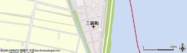 静岡県浜松市南区三新町周辺の地図