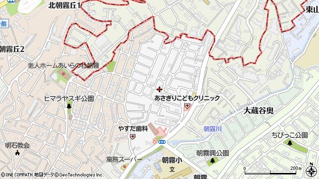 〒673-0852 兵庫県明石市朝霧台の地図