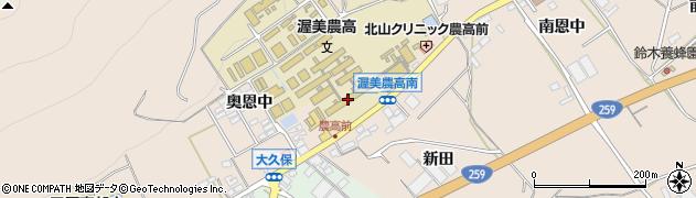 愛知県田原市加治町(奥恩中)周辺の地図