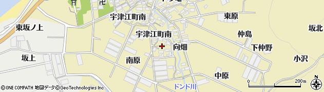 愛知県田原市宇津江町(外新田)周辺の地図