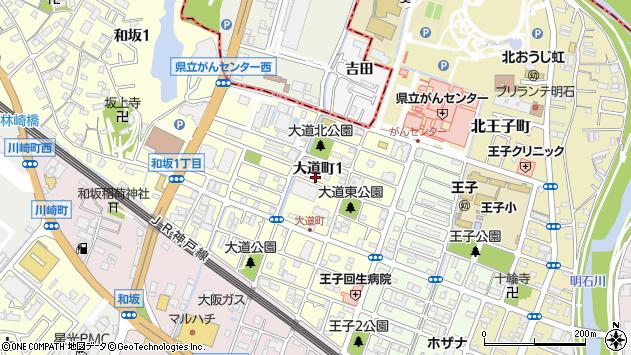 〒673-0029 兵庫県明石市大道町の地図