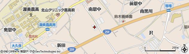 愛知県田原市加治町(新田)周辺の地図