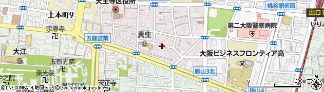 大阪府大阪市天王寺区真法院町周辺の地図