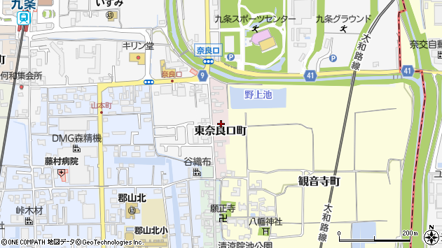 〒639-1162 奈良県大和郡山市東奈良口町の地図