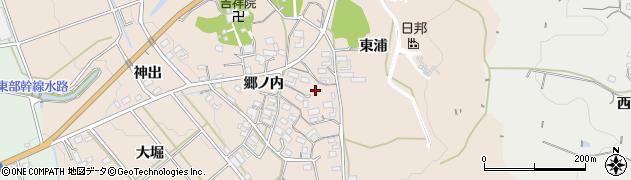愛知県豊橋市西赤沢町(郷ノ内)周辺の地図