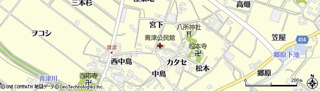 愛知県田原市神戸町(宮下)周辺の地図