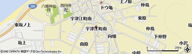 愛知県田原市宇津江町(南)周辺の地図