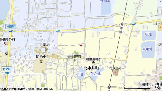 〒630-8442 奈良県奈良市北永井町の地図