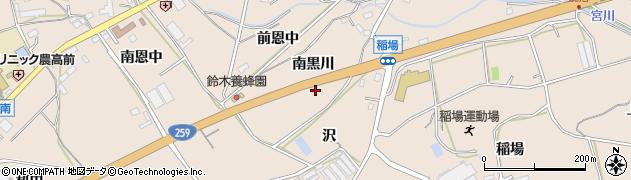 愛知県田原市加治町(南黒川)周辺の地図