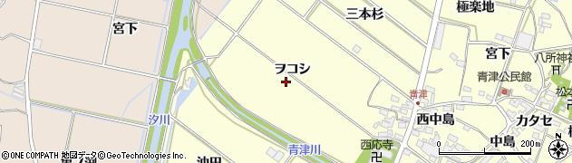 愛知県田原市神戸町(ヲコシ)周辺の地図