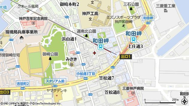 〒652-0864 兵庫県神戸市兵庫区笠松通の地図