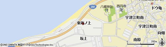 愛知県田原市江比間町(東坂ノ上)周辺の地図