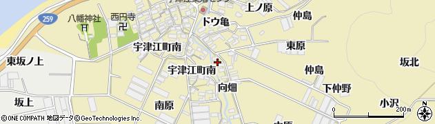 愛知県田原市宇津江町(向畑)周辺の地図