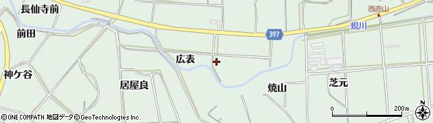 愛知県田原市六連町(広表)周辺の地図