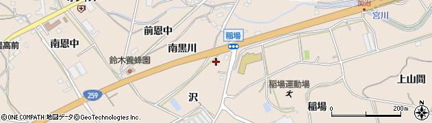 愛知県田原市加治町(沢)周辺の地図