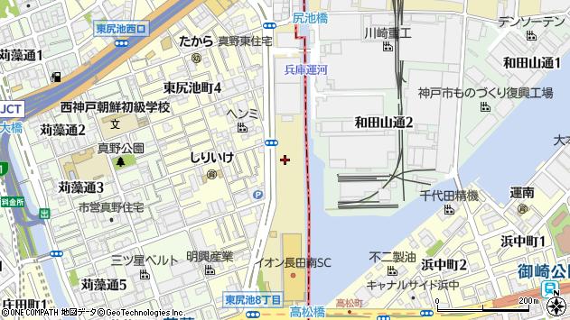 〒653-0023 兵庫県神戸市長田区東尻池新町の地図