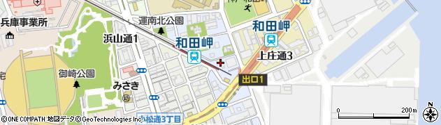 兵庫県神戸市兵庫区和田宮通周辺の地図
