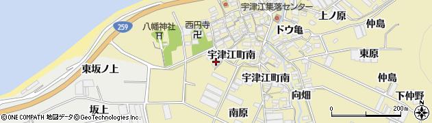 愛知県田原市宇津江町(新南原)周辺の地図