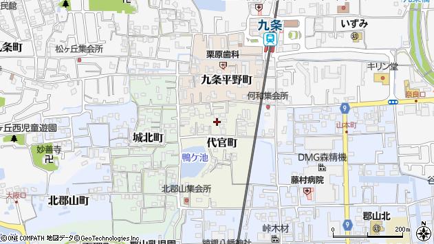 〒639-1003 奈良県大和郡山市代官町の地図