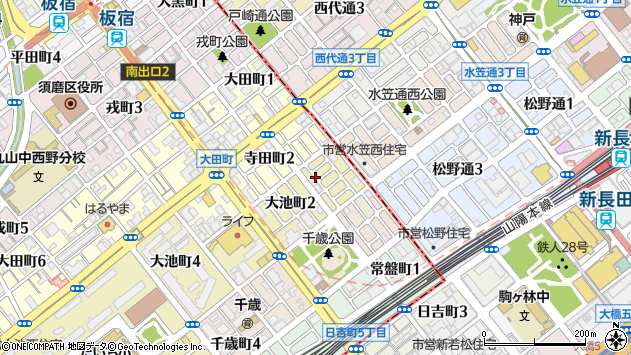 〒654-0026 兵庫県神戸市須磨区大池町の地図