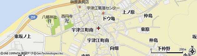 愛知県田原市宇津江町(荒古)周辺の地図