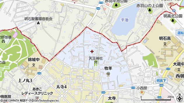 〒673-0841 兵庫県明石市太寺天王町の地図