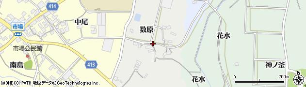 愛知県田原市相川町(数原)周辺の地図