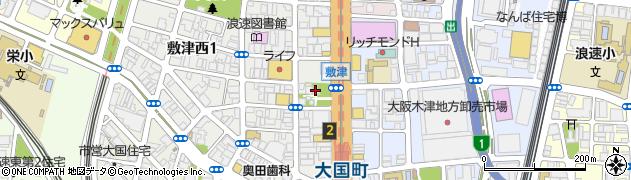 敷津松之宮周辺の地図