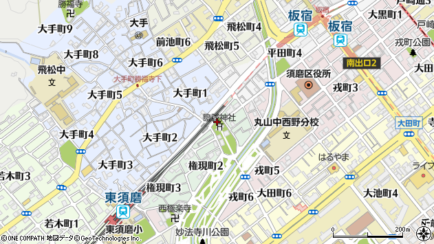 〒654-0031 兵庫県神戸市須磨区権現町の地図