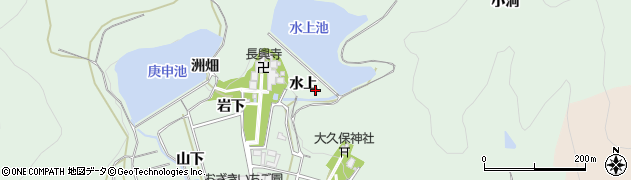 愛知県田原市大久保町(水上)周辺の地図