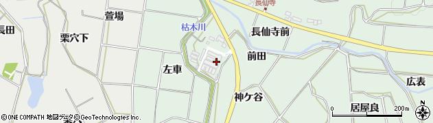 愛知県田原市六連町(神ケ谷)周辺の地図