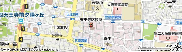 大阪府大阪市天王寺区周辺の地図
