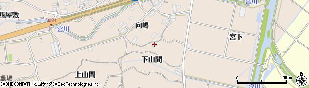 愛知県田原市加治町(下山間)周辺の地図