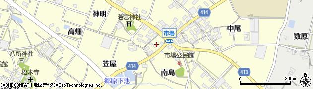 愛知県田原市神戸町(南島)周辺の地図