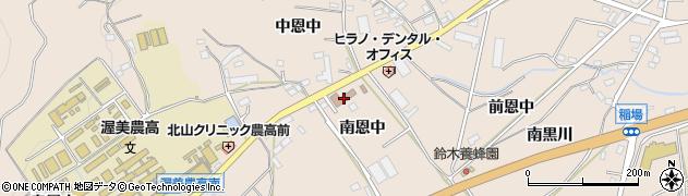 愛知県田原市加治町(南恩中)周辺の地図