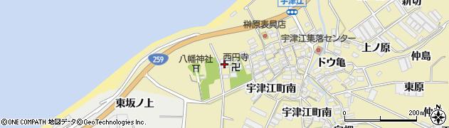 愛知県田原市宇津江町(新居山)周辺の地図