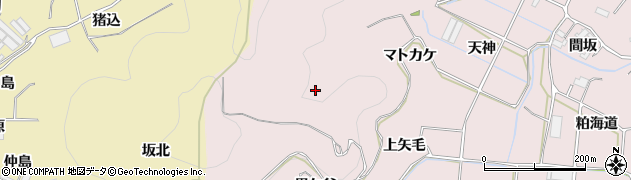 愛知県田原市野田町(マトカケ)周辺の地図