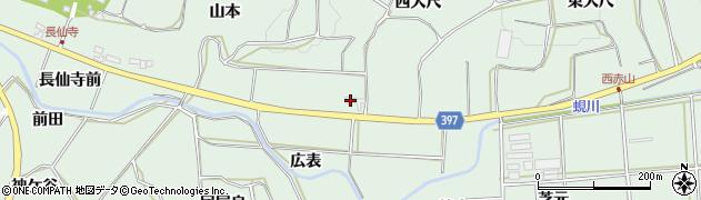愛知県田原市六連町(西大尺)周辺の地図