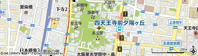 大阪府大阪市天王寺区夕陽丘町周辺の地図