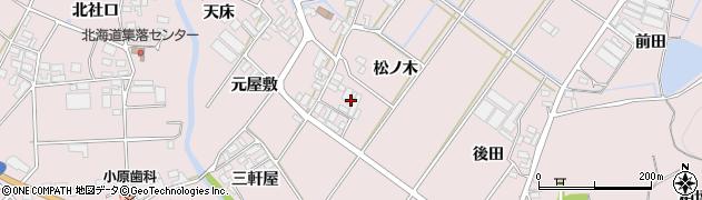 愛知県田原市野田町(松ノ木)周辺の地図