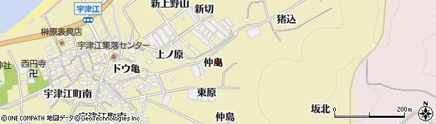 愛知県田原市宇津江町(仲島)周辺の地図