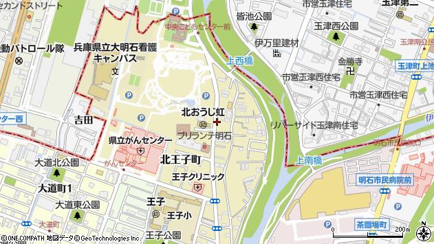 〒673-0021 兵庫県明石市北王子町の地図