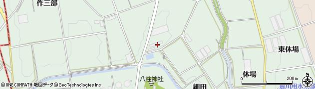 愛知県豊橋市城下町(大見川)周辺の地図